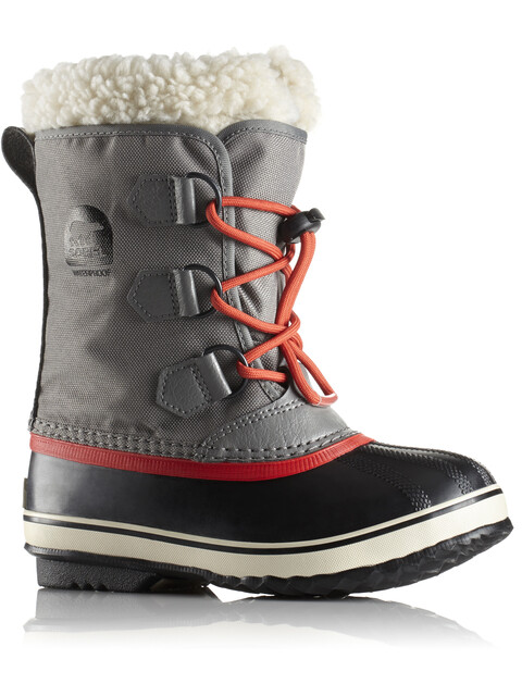 Sorel Youth Yoot Pac Nylon Boots Quarry/Sail Red